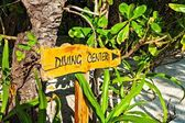 Pointer to the diving center — Stock Photo
