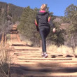 Womwalking up Manitou Incline — Vídeo Stock #21160233