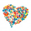 Confetti heart — Stock Photo