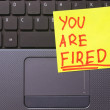 Royalty-Free Stock Photo: You are fired