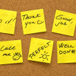 Motivational post it notes — Stock Photo
