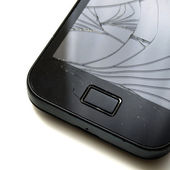 Smashed smartphone — Stock Photo