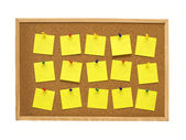 Blank post it notes — Stock Photo