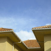 Clay roof — Stock Photo