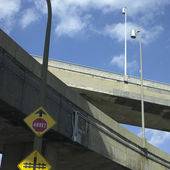 Concrete Highway Viaducts — Stock Photo