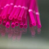 Pink straw — Stock Photo