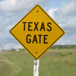 Texas gate sign — Stock Photo