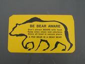 Be Bear Aware Sign — Stock Photo