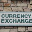 Currency exchange — Stock Photo