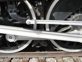 Train wheels — Stock Photo