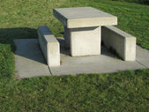 Concrete picnic table — Stock Photo
