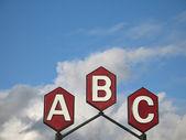 Abc teken — Stockfoto