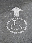 Wheelchair access — Stock Photo
