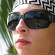 Stock Photo: Womwith shades