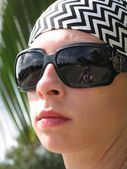 Woman with shades — Stock Photo
