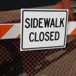 Sidewalk closed sign — Stock Photo