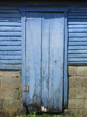 Puerta azul — Foto de Stock