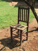 Old brown chair — Stock Photo