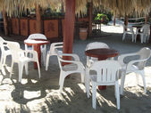 Outdoor dining area — Stock Photo
