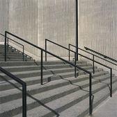 Concrete steps and iron railings — Stock Photo