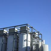 Large white vats — Stock Photo
