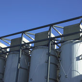 Large white vats — Stock Photo