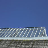Building with glass roof — Stock Photo
