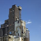 Large abandonned factory — Stock Photo