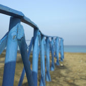 Blue fence — Stock fotografie