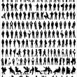 Vector Silhouettes Of Business — Imagen vectorial