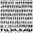 Vector Silhouettes Of Business — Stok Vektör