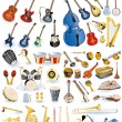 Royalty-Free Stock Vector Image: Big collection of vector music instruments