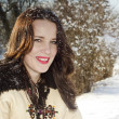 Smiling woman with snow on her hair — ストック写真 #21624141