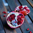 Two halves of pomegranate — Foto de Stock