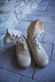 U.S. Army uniform. Boots — Stock Photo
