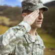 Royalty-Free Stock Photo: Saluting male army soldier