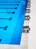 Start platforms in the swimming pool — Stock Photo