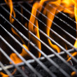 Stock Photo: Grill fire