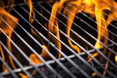 Grill fire — Stock Photo
