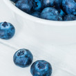 Bowl of blueberries — Stockfoto