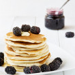 Постер, плакат: Pancakes with blackberry