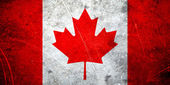 Grunge canadian flag — Stock Photo
