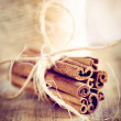 Vintage christmas cinnamon sticks — Foto Stock