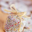 Stack of sprinkled holiday cookies — Stock Photo #31637553