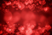 Red glowing Valentine's day background — Stock Photo