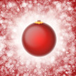 Red christmas ornament illustration — Stock Photo