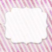 Fondo de papel con el fram de vendimia a rayas diagonal rosa vintage — Foto de Stock