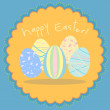 Easter egg vector card in pastel colors — Stock Vector
