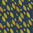 Seamless vector autumn falling leaf pattern — Imagen vectorial