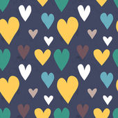 Grungy seamless vector heart pattern for valentine's day — ストックベクタ